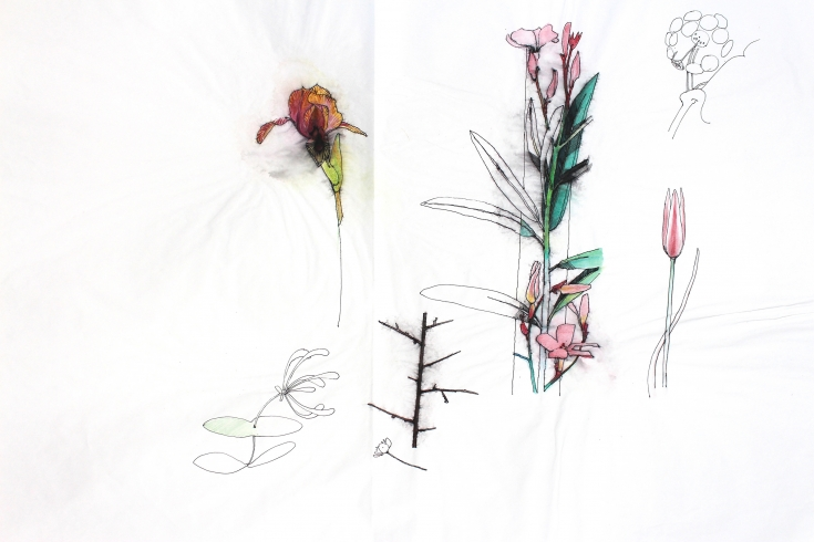 Rough Drawing Flowers